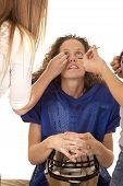 Woman Makeup Hold Helmet