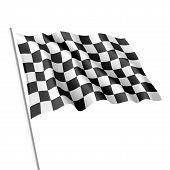 Checkered flag. Vector illustration.