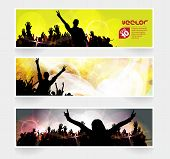 Music banners set. Vector