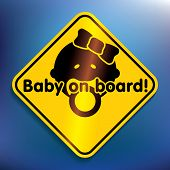 Baby on board sticker - vector illustration