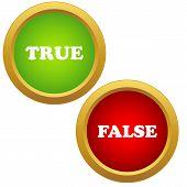 True and false icons
