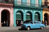 Classic old American car in the streets of Havana.