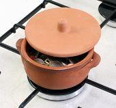 Ceramic Pot Full Of Euro Coins