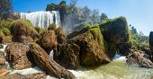Panoramic shot of Elephant waterfall near Dalat city in Vietnam