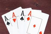 Poker Aces Cards,  Concept Of Poker Game Texas