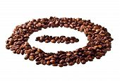 Sight 'minus' in circle from Coffee beans