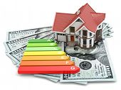 stock photo of fuel efficiency  - House energy efficiency concept - JPG