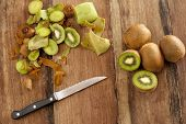Peeling And Dicing Kiwifruit For Dessert