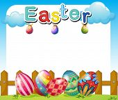 Illustration of an Easter Sunday template