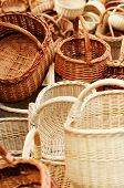 Traditional wreathed baskets