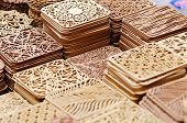 Wooden pads in the handicraft mart