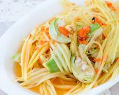 picture of green papaya salad  - Thai Green Papaya Salad Also Known As Som Tum - JPG