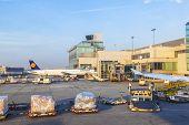 Lufthansa Aircraft Standing At Terminal 1
