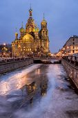 Church Of The Savior On Spilled Blood In The Morning, Saint Petersburg, Russia