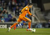 BARCELONA - JAN, 21: Cristiano Ronaldo of Real Madrid during the Spanish Kings Cup match between Esp