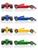 Set Colors Icons Racing Car Vector Illustration Eps 10