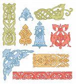 Celtic Color Ornaments Vector Set