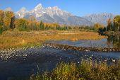 The Tetons In Autumn