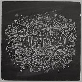 Birthday chalkboard background