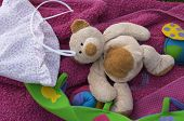 Teddy Bear And Infantile Bottom