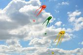 Three space invader kites