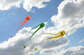 Space invader kites flying