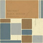 Abstract retro blocks design background, Vector