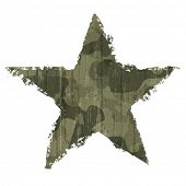 Camouflage star symbol. Vector, EPS10
