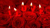 Red Roses And Burning Candles Making I Love