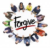 stock photo of forgiveness  - Diverse People Holding Hands Forgive Concept - JPG