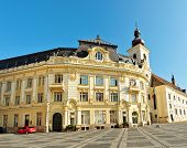 Sibiu City Hall Facade