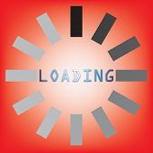 Abstract Loading Symbol On Red Background