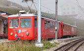 Train On The Top Of Mt. Rigi