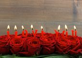 Red Roses And Burning Candles. I Love You