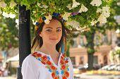 Pretty Ukrainian Girl In Flowers
