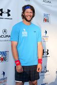 LOS ANGELES - SEP 4:  Clayton Kershaw at the Ping Pong 4 Purpose Charity Event at Dodger Stadium on September 4, 2014 in Los Angeles, CA