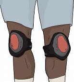 Isolated Knee Pads On Legs