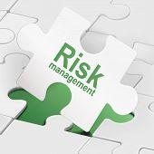 Risk Management On White Puzzle Pieces