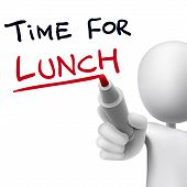 Time For Lunch Words Written By 3D Man