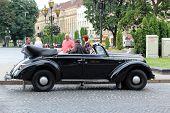 Retro Promenade Car In Lvov