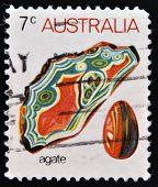 AUSTRALIA - CIRCA 1973: A Stamp printed in Australia shows the Agate circa 1973