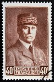 FRANCE - CIRCA 1941: A stamp printed in France shows Marshal Petain circa 1941