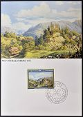 LIECHTENSTEIN - CIRCA 1983: A stamp printed in Liechtenstein dedicated to landscapes