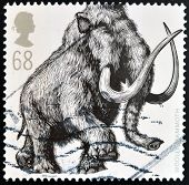 UNITED KINGDOM - CIRCA 2006: A stamp printed in Great Britain shows Woolly Mammoth