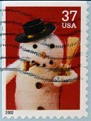 UNITED STATES OF AMERICA - CIRCA 2002: A stamp printed in USA shows snowman circa 2002