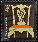 A stamp printed in USA shows Chippendale Chair