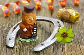picture of talisman  - talisman and horse shoe with clover leaf for new year - JPG