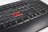 stock photo of porno  - Adult Only Button on Computer Keyboard  - JPG