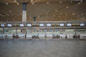 SAINT PETERSBURG - SEP 03: Pulkovo Airport check-in area on September 03, 2014 in Saint Petersburg,
