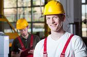 Men During Work At Factory